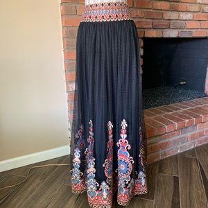 Alice + Olivia Savanna Embroidered Tulle Skirt 2